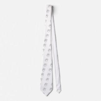 Paw Print Outline Tie