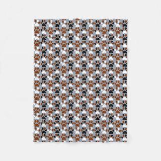 Paw Print pattern Fleece Blanket