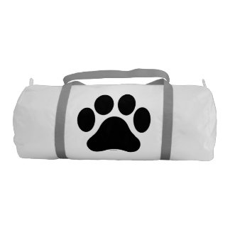Paw Print Pattern Gym Duffle Bag