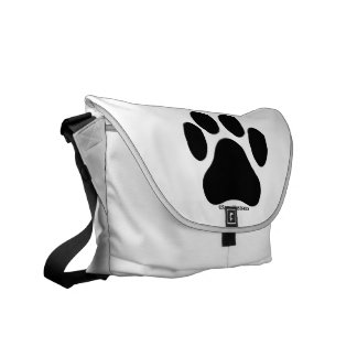 Paw Print Pattern Messenger Bag