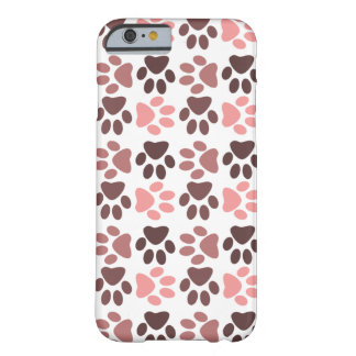 Paw Print Pattern - Monochromatic Color Barely There iPhone 6 Case