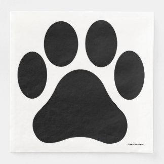 Paw Print Pattern Napkins Paper Serviettes