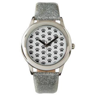 Paw Print Pattern Wristwatch