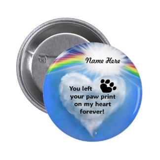 Paw Print Poem 6 Cm Round Badge