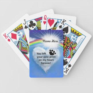 Paw Print Poem Bicycle Poker Cards