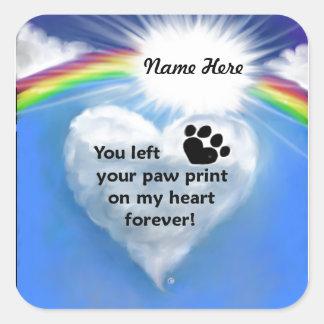 Paw Print Poem Square Sticker