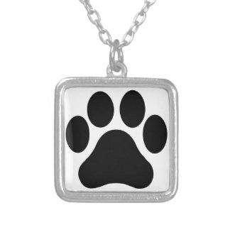 Paw Print Silver Necklace