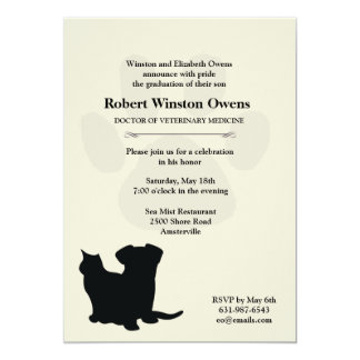 Paw Print Veterinary Graduation Invitation