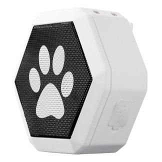 Paw Print White Bluetooth Speaker