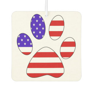 Paw Print with the American Flag Car Air Freshener