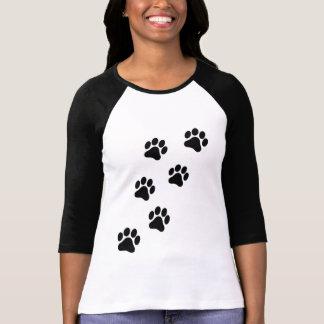 Paw Print Women's Medium Sleeve Shirt
