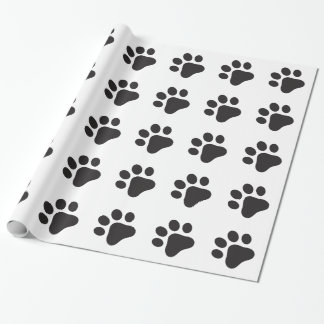 Paw Print Wrapping Paper