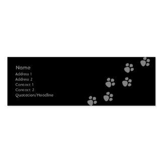 Paw Prints (2) Pack Of Skinny Business Cards