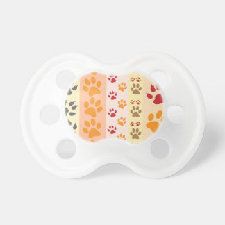 Paw Prints Background Pacifiers