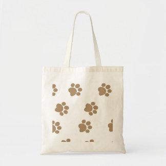 Paw Prints Budget Tote Bag
