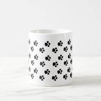 paw prints coffee mug