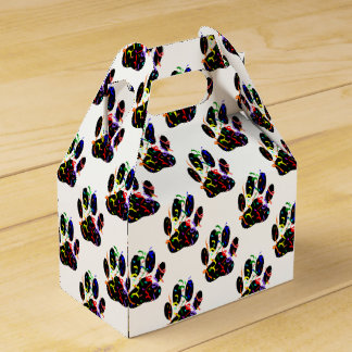 Paw Prints Confetti And Party Streamer Pattern Favour Box