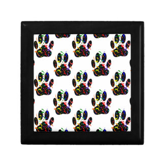 Paw Prints Confetti And Party Streamer Pattern Gift Box