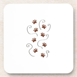 Paw Prints Drink Coasters