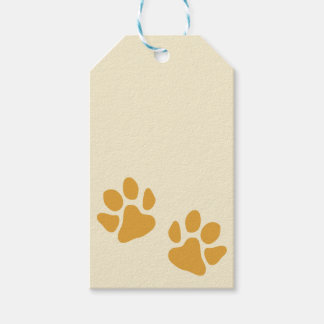 Paw Prints Gold Gift Tags