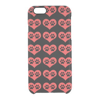 Paw Prints In My Heart by Shirley Taylor Clear iPhone 6/6S Case