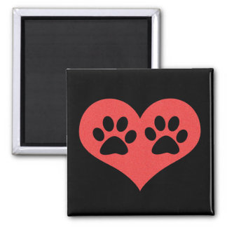 Paw Prints In My Heart by Shirley Taylor Magnet