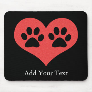 Paw Prints In My Heart by Shirley Taylor Mouse Pad