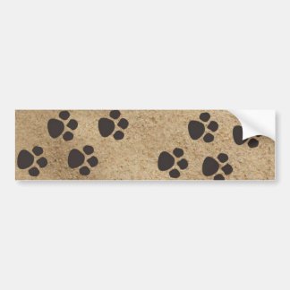 Paw Prints in the Sand Bumper Sticker