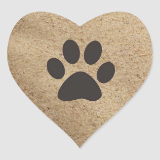 Paw Prints in the Sand Stickers