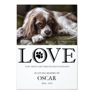Paw Prints Love Pet Memorial Card