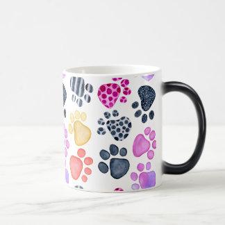 Paw Prints Morphing Mug