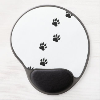 Paw prints of a cat gel mouse pad