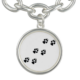 Paw prints of a dog