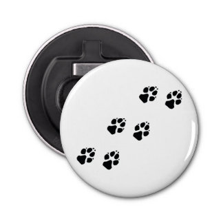 Paw prints of a dog bottle opener