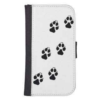 Paw prints of a dog samsung s4 wallet case