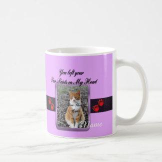 Paw Prints on My Heart - Mauve Coffee Mug