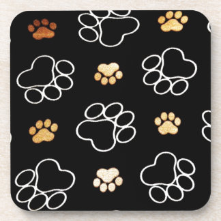 Paw Prints Templare Gifts Beverage Coasters