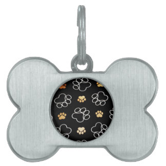 Paw Prints Templare Gifts Pet ID Tags
