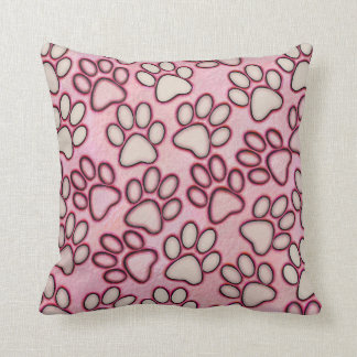 Paw Prints Throw Pillow Cushion