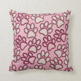 Paw Prints Throw Pillow Cushion