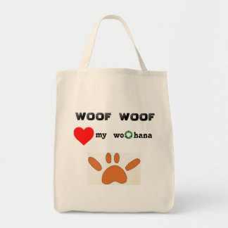 Paw SHAKA laka Grocery Tote Bag