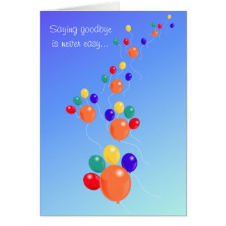 Paw-shaped up up&away balloon bouquet pet sympathy greeting card