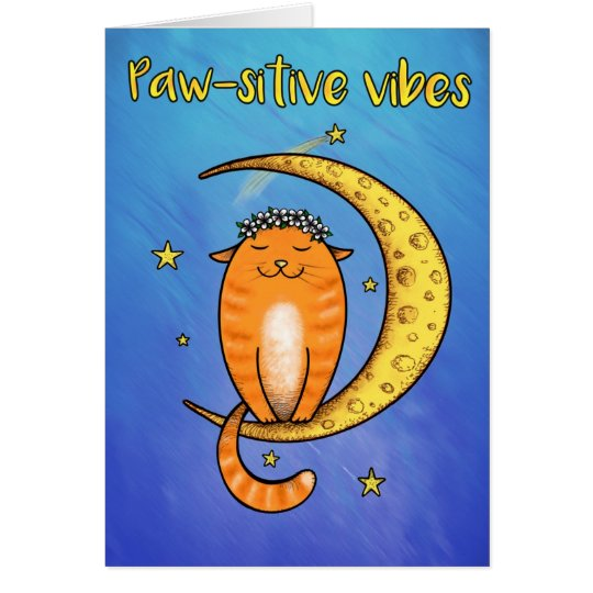 Paw-sitive vibes card