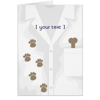 Paw Tracks Lab Jacket Greeting Card