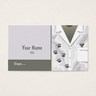 Paw Tracks Veterinarian Business Card