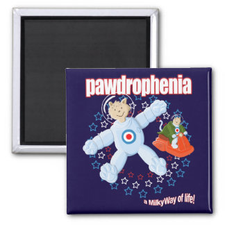 Pawdrophenia Mod Cats In Space Square Magnet