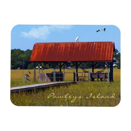 Pawleys Island Creek Dock Watercolor Magnet