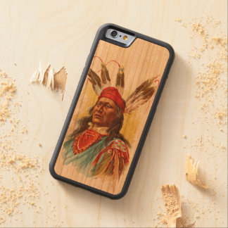 Pawnee Sioux Chief: Rushing Bear Carved Cherry iPhone 6 Bumper Case