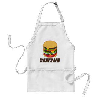 PawPaw Burger BBQ Grilling Grandpa Gift Adult Apron
