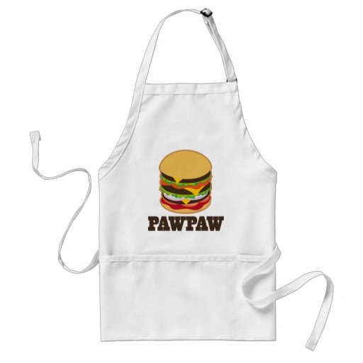 PawPaw Burger BBQ Grilling Grandpa Gift Aprons